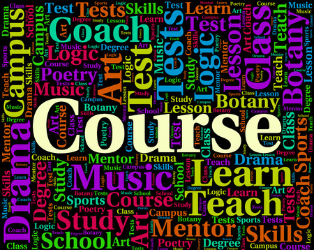 educated: Course Word Representing Schedule University And Educated