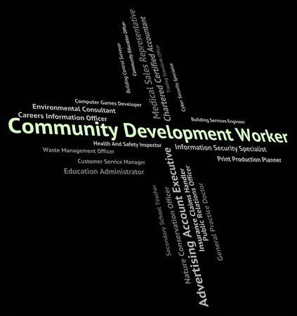craftswoman: Community Development Worker Showing Working Man And Craftswoman