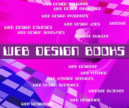 web designing: Web Design Books Representing Designing Designed And Websites Stock Photo
