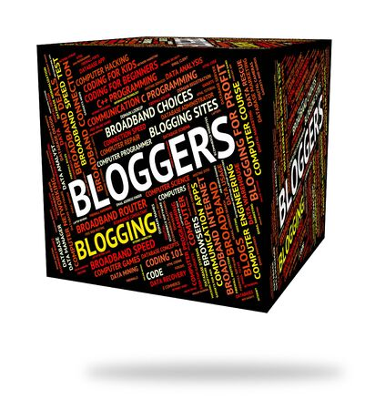bloggers: Bloggers Word Representing Weblog Words And Website Stock Photo