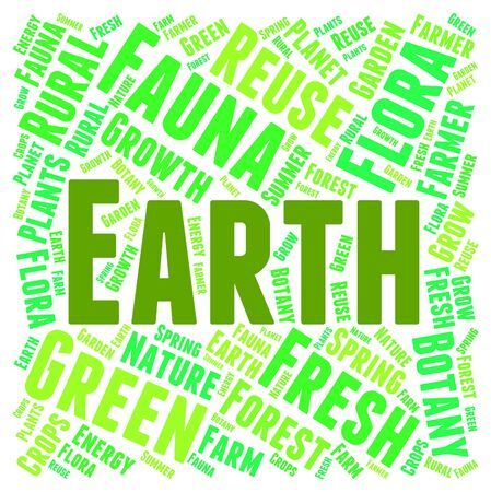 ecofriendly: Earth Word Cloud Indicating Go Green And Eco-Friendly