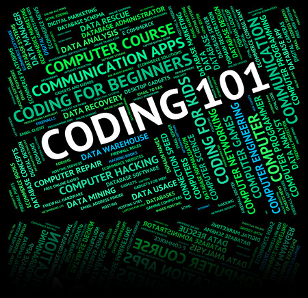 coding: Word Coding Showing Basics Learn And Words