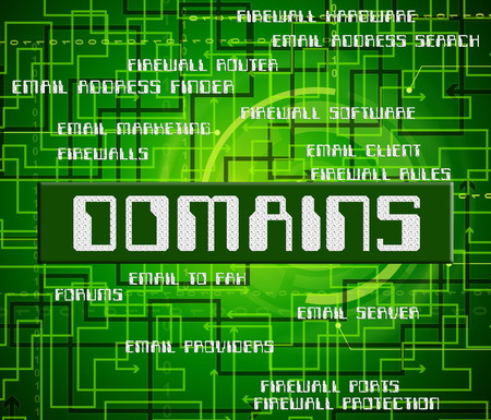 domains: Domains Word Meaning Zone Computer And Realm Stock Photo