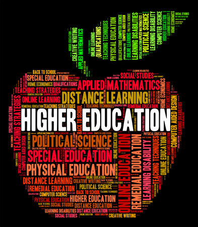 higher education: Higher Education Meaning Text Educated And Word