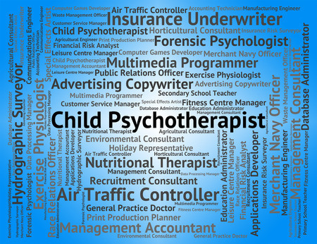 insanity: Child Psychotherapist Representing Emotional Disorder And Word Stock Photo