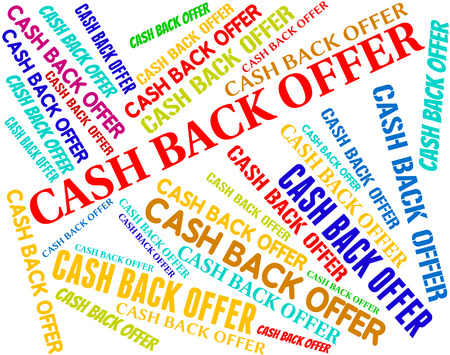 partial: Cash Back Offer Indicating Partial Refund And Rebating Stock Photo