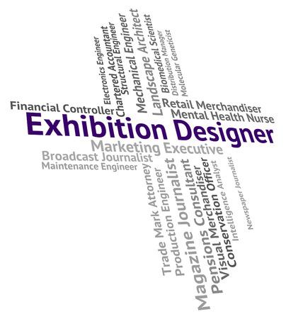 trade fair: Exhibition Designer Showing Trade Fair And Designers