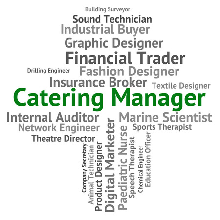 overseer: Catering Manager Meaning Words Administrator And Executive Stock Photo