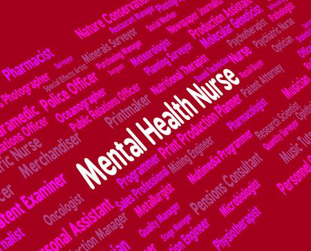 matron: Mental Health Nurse Showing Nervous Breakdown And Employment