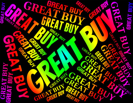 terrific: Great Buy Representing Word Impressive And Breathtaking Stock Photo
