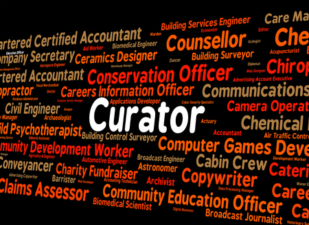 custodian: Curator Job Showing Word Hiring And Employment