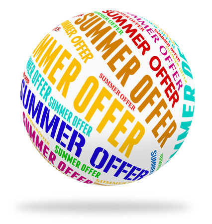 promotional offer: Summer Offer Indicating Hot Weather And Promotional