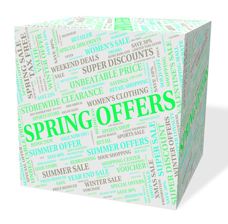 spring tide: Spring Offers Meaning Savings Bargain And Discount