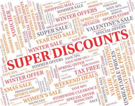Super Discounts Indicating Terrific Excellent And Fab