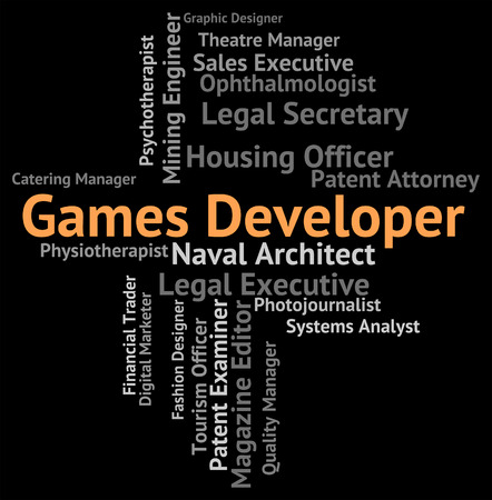 play time: Games Developer Representing Play Time And Job