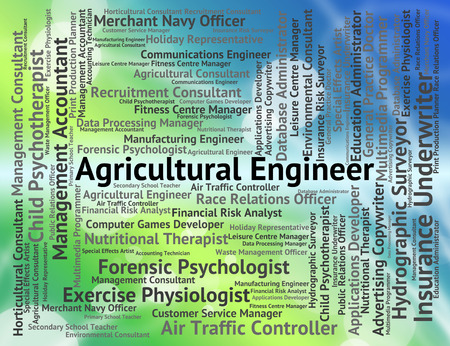 agricultural engineering: Agricultural Engineer Representing Employment Career And Engineering Stock Photo