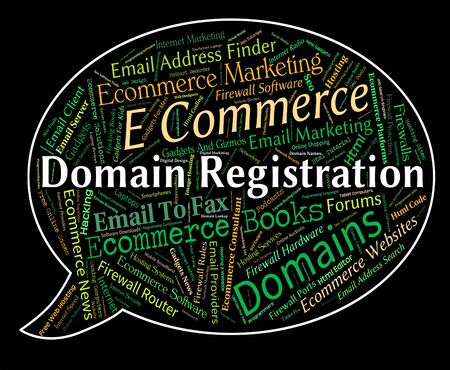 dominions: Domain Registration Representing Sign Up And Admission Stock Photo