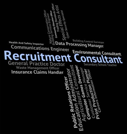 headhunter: Recruitment Consultant Showing Headhunter Occupation And Jobs