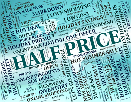 half price: Fifteen Percent Off Representing Half Price And Cheap Stock Photo