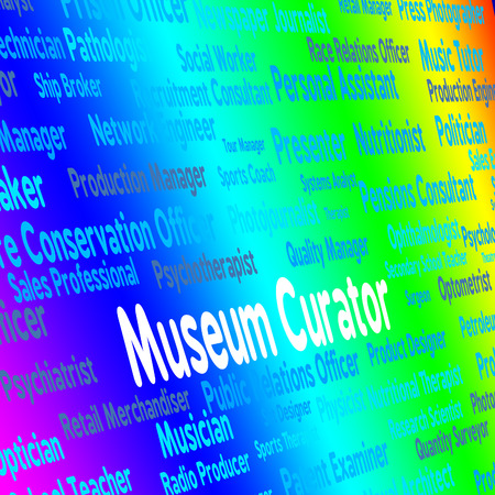 curator: Museum Curator Showing Guardian Position And Guardians Stock Photo
