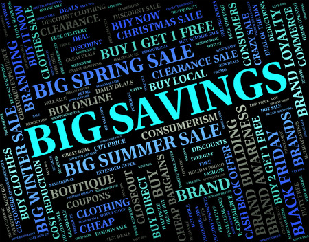 bargain: Big Savings Showing Large Wealthy And Bargain