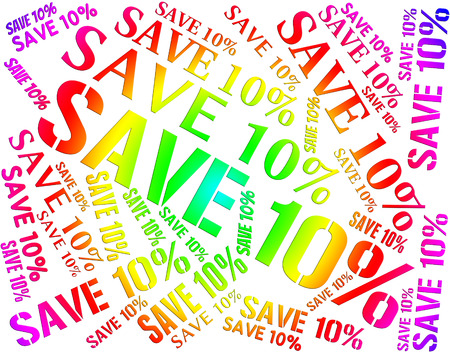 bargains: Ten Percent Off Showing Bargains Promotion And Words