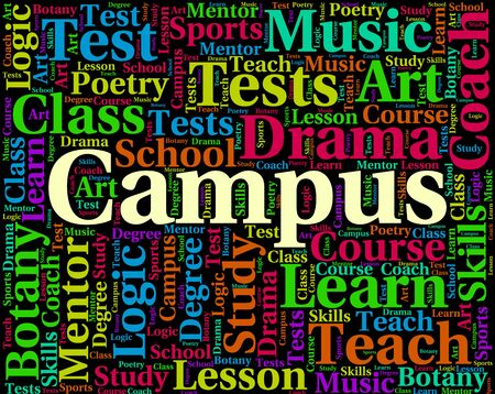 faculty: Campus Word Representing School Academies And Faculty Stock Photo