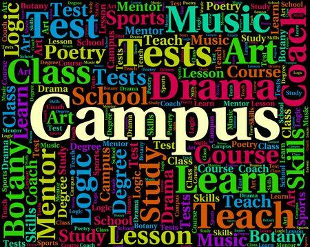 Campus Word Representing School Academies And Faculty Banco de Imagens