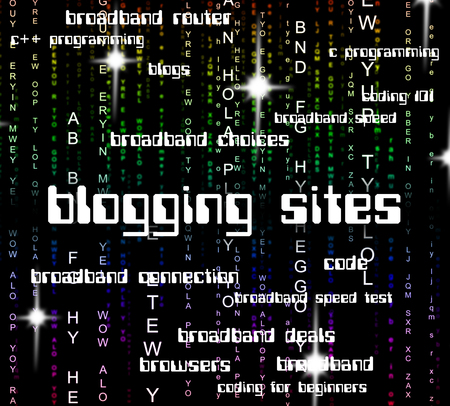domains: Blogging Sites Indicating Text Domains And Online