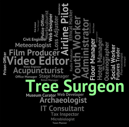 general practitioner: Tree Surgeon Showing General Practitioner And Physician Stock Photo