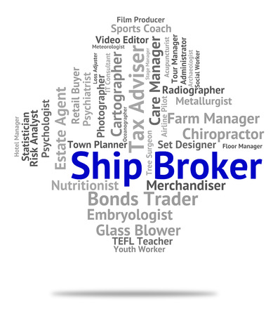 middleman: Ship Broker Showing Liaison Text And Representative