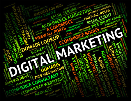 tec: Digital Marketing Meaning High Tec And Electronic Stock Photo