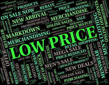 discounted: Low Price Representing Keenly Priced And Text