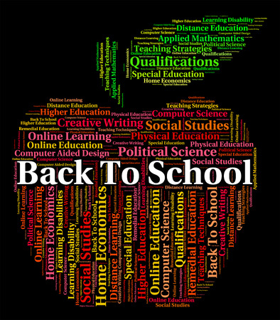 schooling: Back To School Meaning Words Schooling And Text