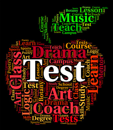 questions: Test Word Representing Questions Text And Exam