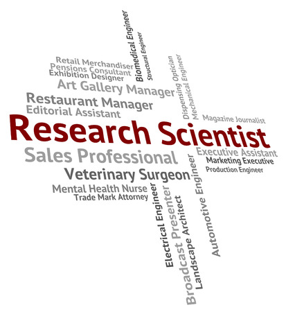 research scientist: Research Scientist Showing Gathering Data And Job