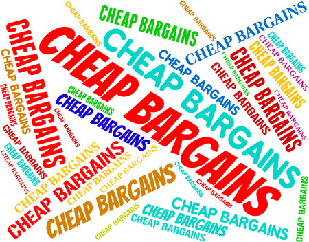marked down: Cheap Bargains Indicating Low Cost And Promo