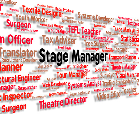 overseer: Stage Manager Meaning Overseer Director And Principal Stock Photo