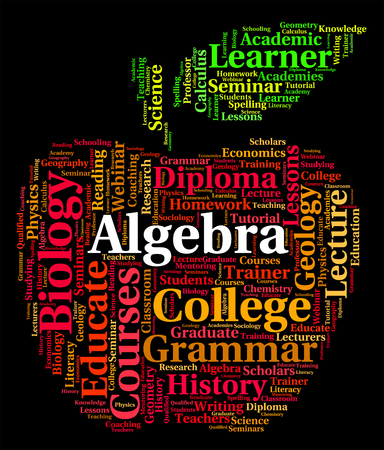 algebra: Algebra Word Meaning Multiplication Words And Calculus Stock Photo