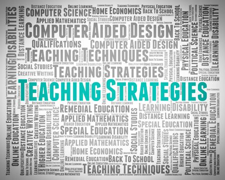 business strategy: Teaching Strategies Showing Business Strategy And Plans Stock Photo