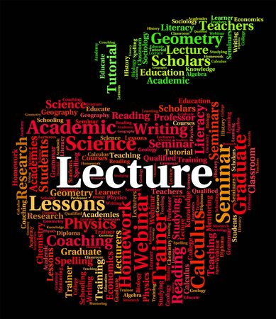 lessons: Lecture Word Showing Lessons Sermons And Address