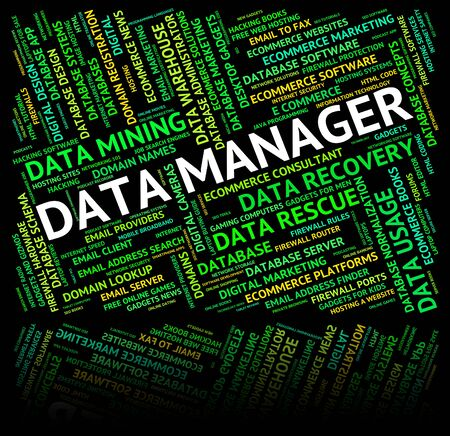 fact: Data Manager Representing Fact Text And Administrator Stock Photo
