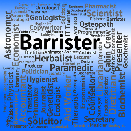 barrister: Barrister Job Representing Work Occupation And Hiring