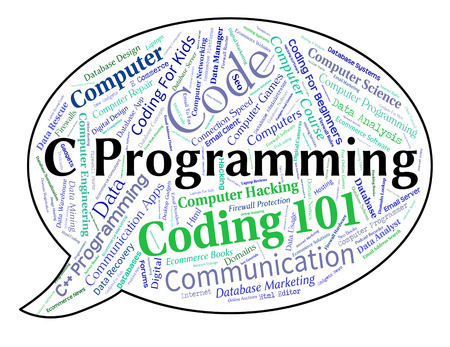 software development: C Programming Meaning Software Development And Words Stock Photo