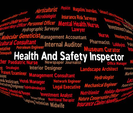 safety check: Job Safety Representing Health Check And Inspect