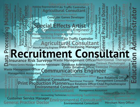 advisers: Recruitment Consultant Representing Recruiting Guide And Authority Stock Photo