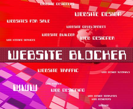 website words: Website Blocker Representing Blockade Sites And Words