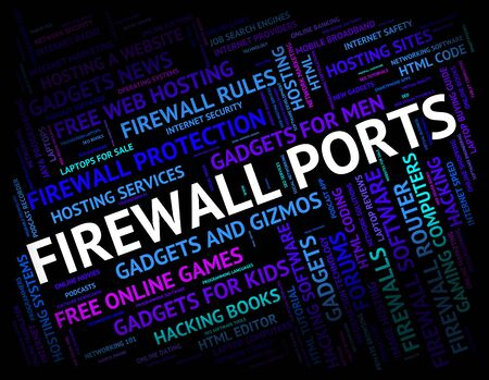 firewall: Firewall Ports Showing No Access And Socket Stock Photo