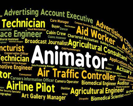 animator: Animator Job Meaning Occupation Cartoon And Animators Stock Photo