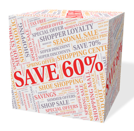 sixty: Sixty Percent Off Showing Sale Closeout And Clearance